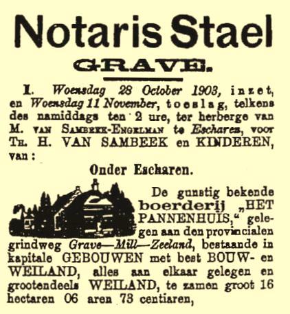 Notaris Staal Pannenhuis veiling