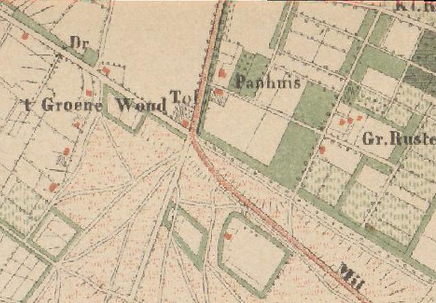 Topografische Militaire kaart 1867 WatWasWaar